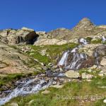 Cascata emissaria del Lago Soprano della Sella