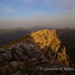 Al tramonto sulla Timpa di San Lorenzo