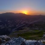Il Sole tramonta sull'Alta Valle del Raganello